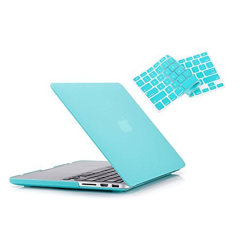 RUBAN Case Macbook Old Retina 15 No CD-ROM (2012-2015 ) Release (A1398), Plastic Hard Case Shell with Keyboard Cover for Old Macbook Pro 15-inch 15.4 with Retina Display, Turquoise.