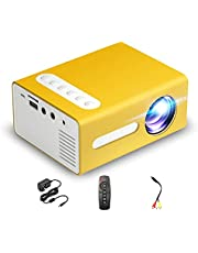 JINGQII Projetor de filmes Projetor de vídeo portátil Mini 1080p projetor compatível com telefone inteligente/tablet/laptop/alto-falante/set top box/DVD para home theater Preto