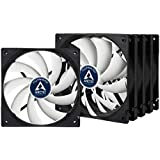 ARCTIC F12 PWM PST - 120 mm PWM PST Case Fan - Five Pack | Cooler with Standard Case | PST-Port (PWM Sharing Technology) | Regulates RPM in sync