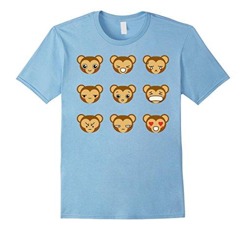 Homemade Monkey Costumes For Babies - Mens Cute Monkey Emoji Tshirt For Halloween Costume Gifts Idea Medium Baby Blue