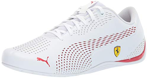 (PUMA Men's Ferrari Drift Cat 5 Sneaker White-Rosso COR, 11 M US)