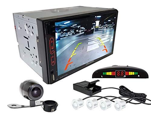 Multimidia Mp7 RS-707MP7 Com Câmera De Ré RS-121BR E Sensor De Estacionamento RS-104BR BRANCO