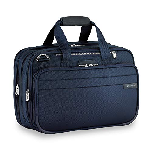 Briggs & Riley Expandable Cabin Bag Overnight Duffel, Navy,