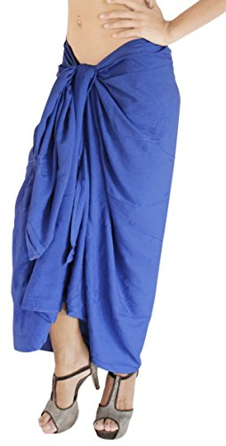 690d1e38df La Leela Sarong Bathing Pareo Wrap Bikini Cover up Womens Soft Rayon  Swimsuit Swimwear