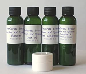 Northwest Scents Lavender and Rosemary Five Piece Sample Kit for Black, African American, Afro Textured, 4C Hair
