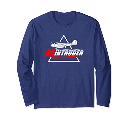 Unisex A-6 Intruder - Navy Jet Bomber T-shirt Large (Bomber Long Sleeve T-shirt)