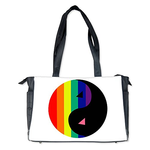 Diaper Bag Gay Pride Rainbow Flag Yin Yang (Yang Bag)