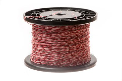 ECore Cables 24 AWG Cross Connect Wire - 1 Pair - Cat5e Rated - Red/White - R/W-W/R - 1000 FT (Connect Cat5e Cable)
