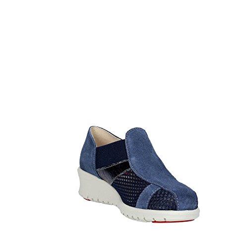 Sandale Soft Bleu Femme Cinzia IE9804L Suède qP7WU