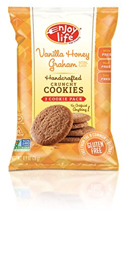 With Honey And Soy (Enjoy Life Crunchy Cookie Snack Pack, Gluten-Free, Dairy-Free, Nut-Free and Soy-Free, Vanilla Honey Graham, 0.9 Ounce Bag (Pack of 24))
