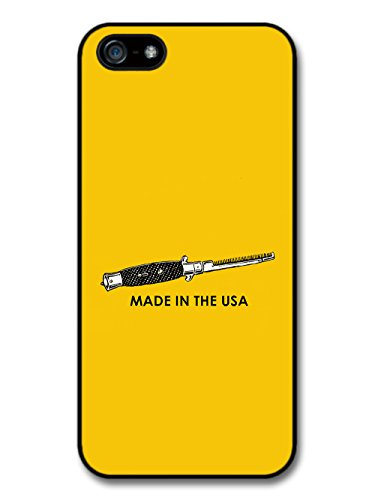 Made in the USA Flick Knife Switch Blade Comb Greaser 50s Rebel Design case for iPhone 5 5S