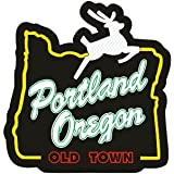 Portland Oregon White Stag Sticker | Old town PDX label | the new Eurocal or oval | Apply to Mug Phone Laptop Water Bottle De