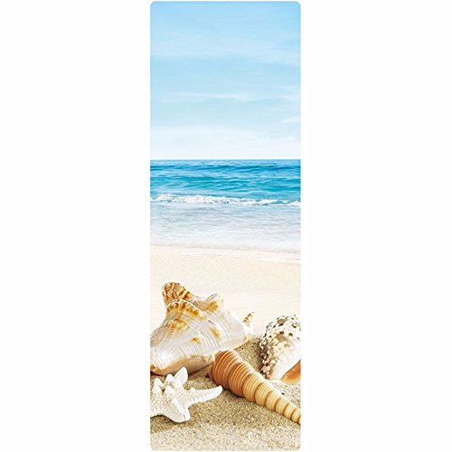 SJQKA-Natural Rubber Yoga Mat, Anti-Skid Beginners, Men And Women Mats, Thickening, Extended Printing, Yoga Fitness Mat,Surf Beach by SJQKA-yoga mat