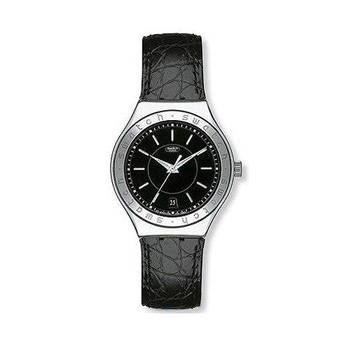 Reloj SWATCH Irony yas402 automático acero quandrante negro correa piel