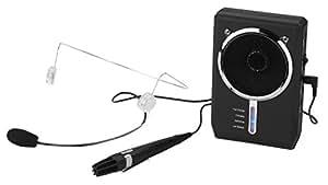 Amplificador de voz digital portátil con auriculares y micrófono miniatura micrófono de mano