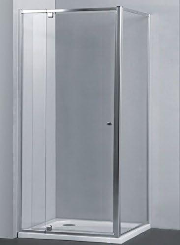 Mampara AURA Rectangular Pivotante con Lateral Fijo de 90 cm - 2 Hojas FIJAS + 1 Hoja PIVOTANTE. Cristal TRANSPARENTE. (90 x 90 x 195 cm): Amazon.es: Bricolaje y herramientas