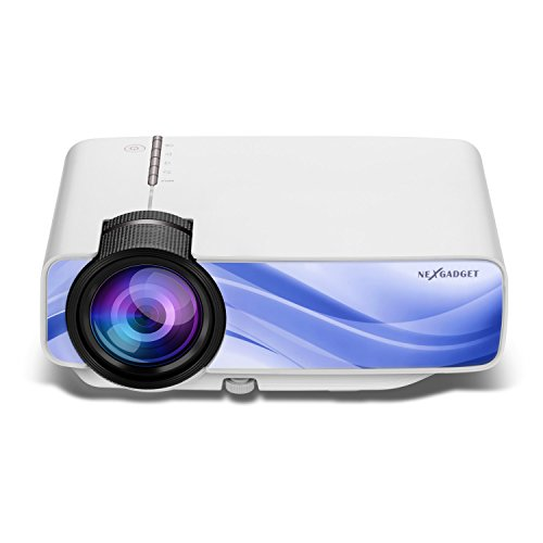 NEXGADGET YGLife Video Projector, Multimedia Home Projector Support 1080P HDMI USB SD Card VGA AV for Entertainment Game Party Home Cinema Theater