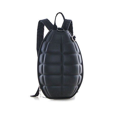- New Fashion Women Men Turtle Shell Style Backpack Hand Grenade Bomb Shoulder Bag Black