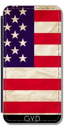 Leder Flip Case Tasche Hülle für Apple Iphone 7 / Iphone 8 - Amerika, Wir Flaggenstaaten by WonderfulDreamPicture
