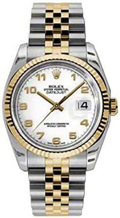 0f5f2104480db Image Unavailable. Image not available for. Color  Rolex Datejust Oyster  Perpetual Mens Watch 116233