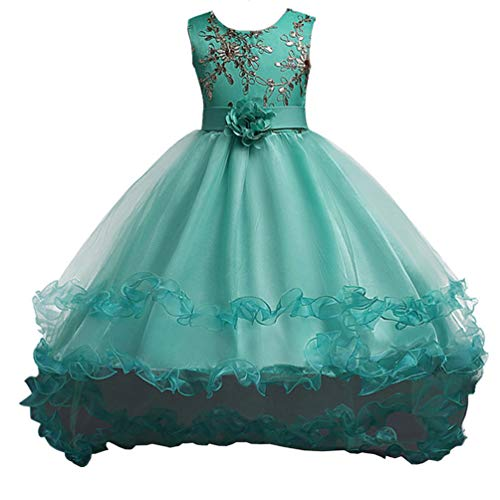 Toddler Gowns (JIANLANPTT Gril Sequins Bodice Trailing Dress Toddler Children Princess Party Gown Costume Green 120(4-5Years))
