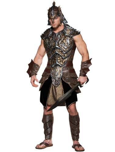 [InCharacter Costumes Dragon Lord Costume, Black/Gold, X-Large] (Sexy Halloween Cost)