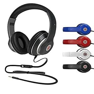 LM801 High Quality Stereo Headband Headphone with Microphone for iPad/iPhone/iPod (Assorted Colors) , Blue