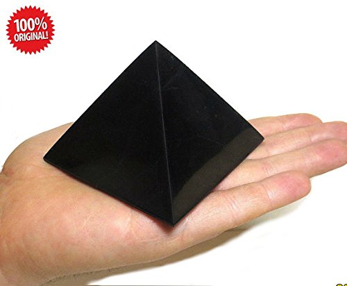 Shungite Polished Pyramid 70x70 mm (2,76x2,76 inch) stones crystal mineral large