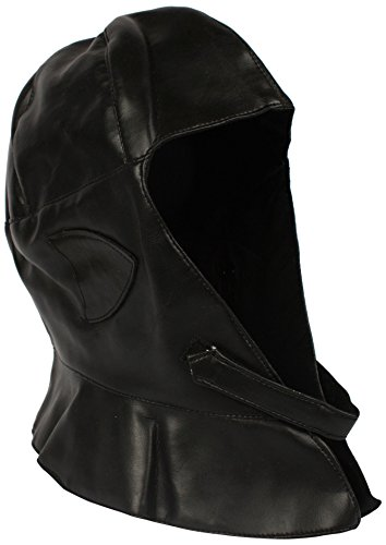 - Alexanders Costumes Men's Deluxe Aviator Hood, Black, One Size