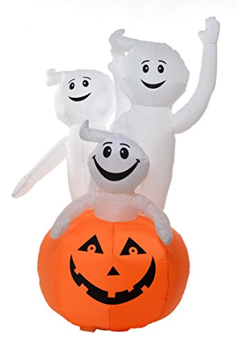 Spooky 6 Foot Self Inflating Illuminated Pumpkin with