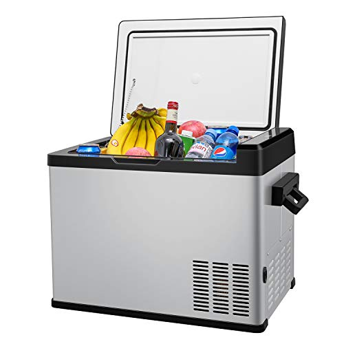 42 Quart Portable RV Refrigerator/Freezer Compact Vehicle Car Fridge Compressor Electric Cooler for Car,Truck,RV,Boat,Outdoor and Home use 12/24V DC and 90-250 AC,Cooling from 68°F to -13°F ()