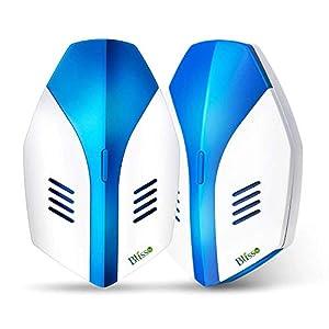 Blisso Repellente ad Ultrasuoni Elettromagnetico Efficace, Elettrico Repeller Ultrasonico Contro Zanzare Tropicali Topi… 2 spesavip