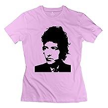 Bob Dylan Short Sleeve T Shirts For Lady Pink XXL