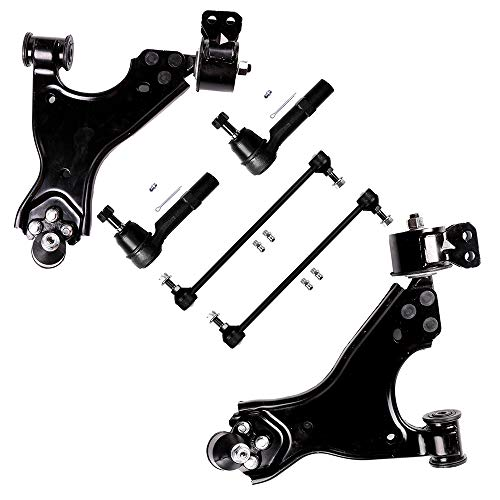 (SCITOO 6pcs Suspension Kit 2 Lower Control Arm 2 Outer Tie Rod 2 Front Sway Bar Compatible fit 09-2012 Chevrolet Traverse Buick Enclave 07-2012 GMC Acadia 07-2010 Saturn Outlook)