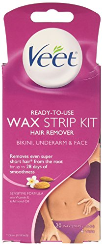 Veet Wax Strips Hair Remover - 20 ct
