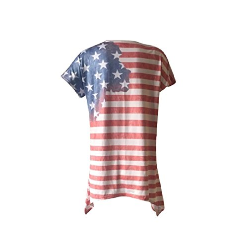 Flag Tunic Printed Short Coolred Street As1 Irregular Sexy Pullover Digital Baggy Print Dress Women Tops American Blouses qwq4cpIO