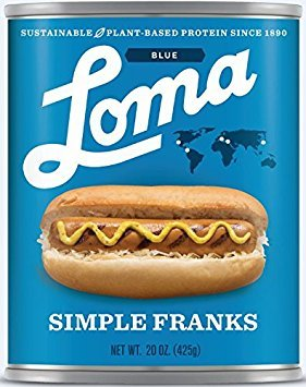 Loma Blue Simple Franks - 20 oz. (Pack of 6)
