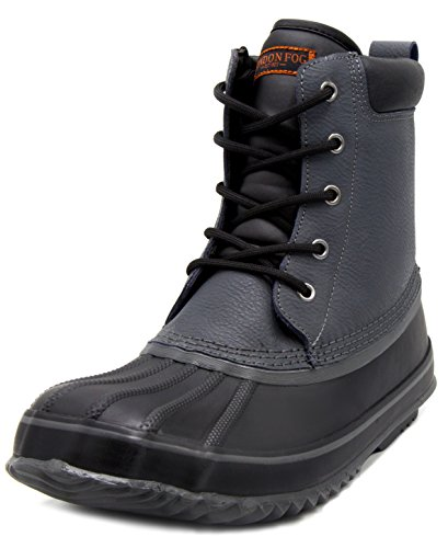 London Fog Mens Ashford Waterproof and Insulated Duck Boot Grey 10 M US