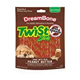 Cheap DreamBone Twist/Treat/Chew Sticks Peanut Butter 50 Pk, Pack/Bundle of 2 (100 Treats Total)