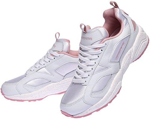 Paperplanes-1352 Sneakers Unisex Ultra Razza Moda Bianco Rosa