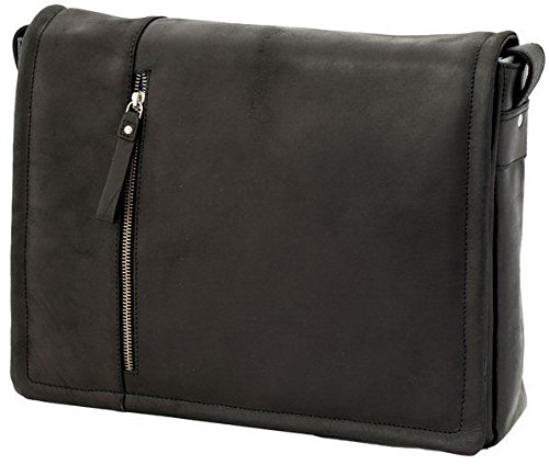 Foster Oil Leather Bag Case Laptop Black 16072 Visconti Messenger wgqznY