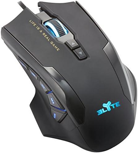 Elyte Ratón Gaming - 12 Botones Programables, hasta 6000 DPIs y Ajuste de Peso