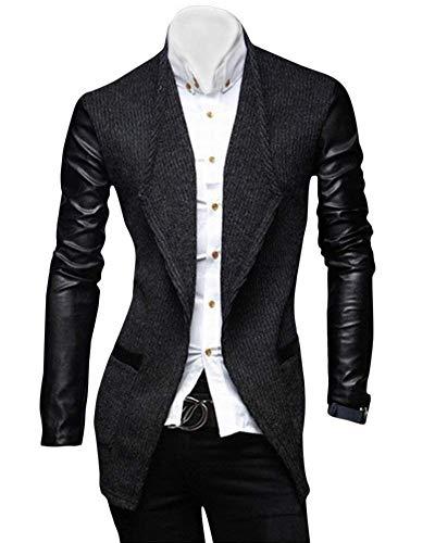 Marques Vestes Long Casual Couleurs Cuir Trench Mode Coat Blazer Cxw0qwXT