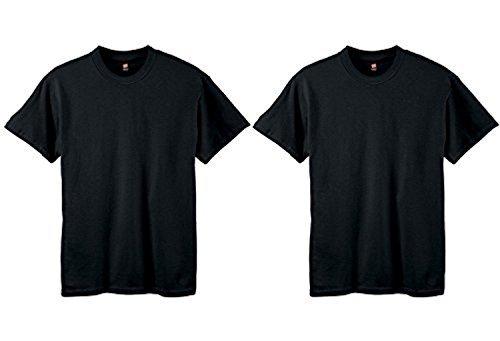 2-Pack Hanes ComfortSoft Youth Short Sleeve Tagless T-Shirt, Black, XXS (4)