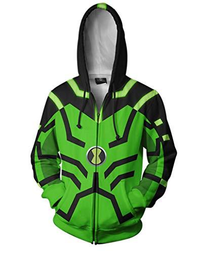 Ben 10 Alien Force Costumes - Jonikow Unisex 3D Game Pattern Hoodies