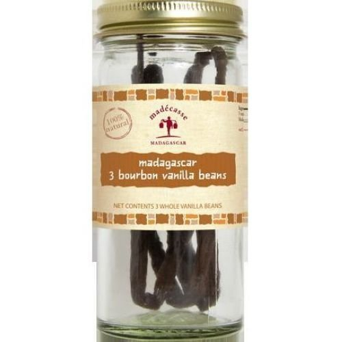 Madecasse Three Bourbon Vanilla Beans -- 12 per case.