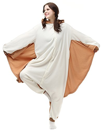Sayadress Unisex Women Men Animal Costume Pyjama Adorable Hooded Flying Squirrel Large ()