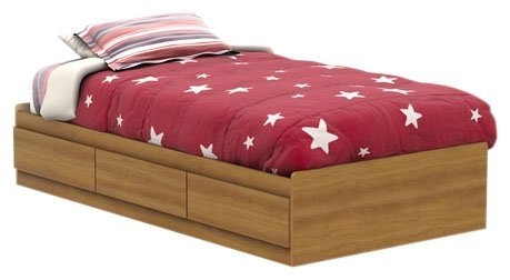 South Shore Fynn Collection Twin Mates Bed (39'') Harvest Maple-Honeycomb