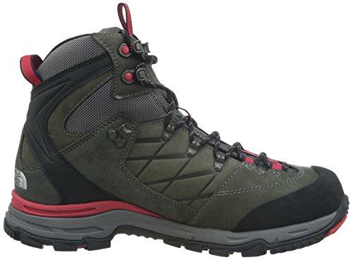 North Face M Verbera Hiker II GTX, Hombre Botas de senderismo Gris / Rojo