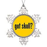 Xixitly Ideas For Decorating Christmas Trees got skull Head Photo Frame Snowflake Ornament